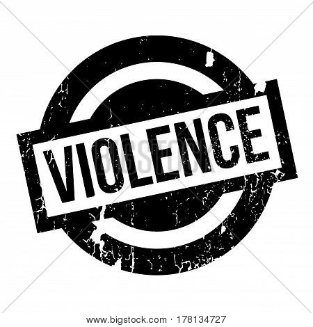 Violence rubber stamp. Grunge design with dust scratches. Effects can be easily removed for a clean, crisp look. Color is easily changed.