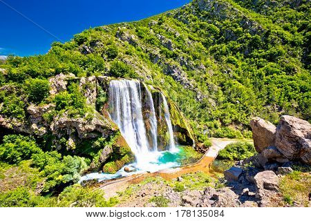 Krcic Waterfall In Knin Scenic View