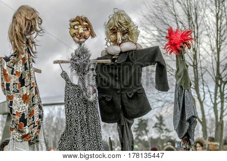 Scarecrow In Human Clothes