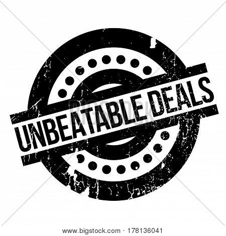 Unbeatable Deals rubber stamp. Grunge design with dust scratches. Effects can be easily removed for a clean, crisp look. Color is easily changed.
