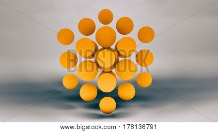 3d illustration background for the poster of your event replicating the balls close-up of the grunge