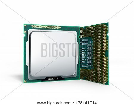 Central Computer Processors Cpu High Resolution 3D Illustration