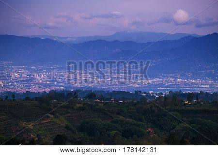 City of San Jose at twilight. Costa Rica