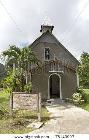 Saint Matthews church at Praslin island, Seychelles