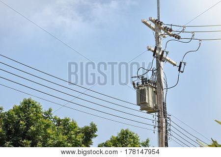 It is low voltage pole in thailand
