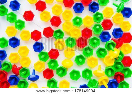 the сhildren multicolored mosaic. a background toy