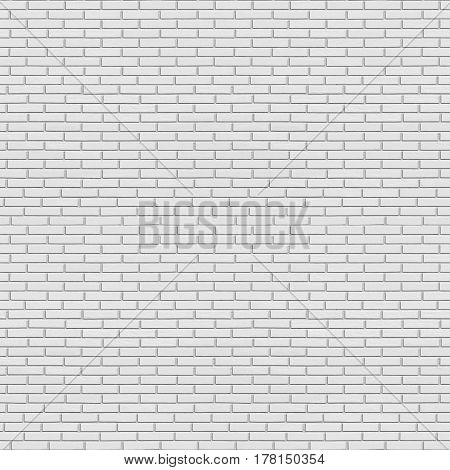 White Painted Brick Wall Seamless Texture