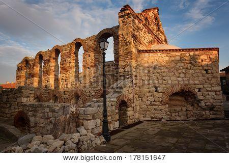 Ruined Saint Sofia Church in Nesebar, Bulgaria