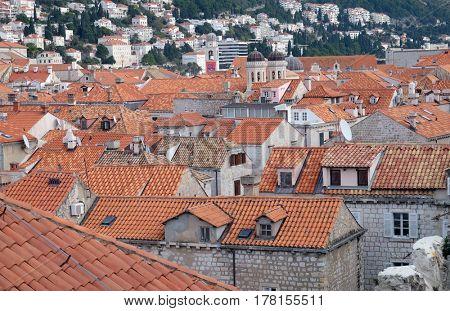 DUBROVNIK, CROATIA - NOVEMBER 30: View of Old City of Dubrovnik, Croatia on November 30, 2015.