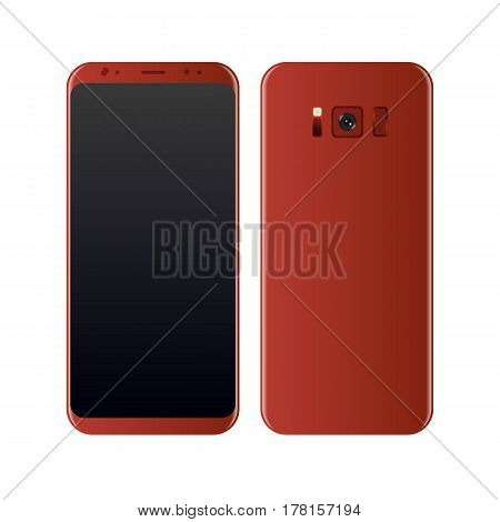 Concept Realistic smartphone. Perfect to present your screen design application. Vector Illustration