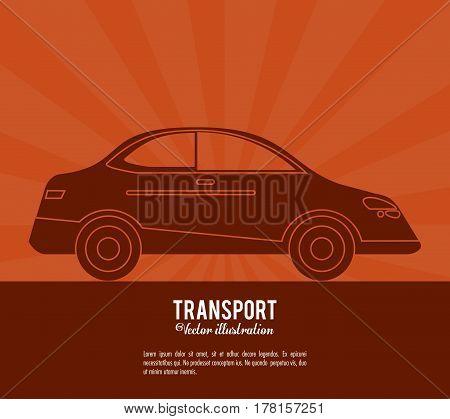 transport car vehicle design vector illustration eps 10
