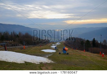 Mountain afternoon (Zar in Beskidy Mountains, Poland)