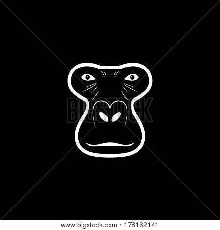 Gorilla head logo. Animal mascot logotype. Vector illustration.