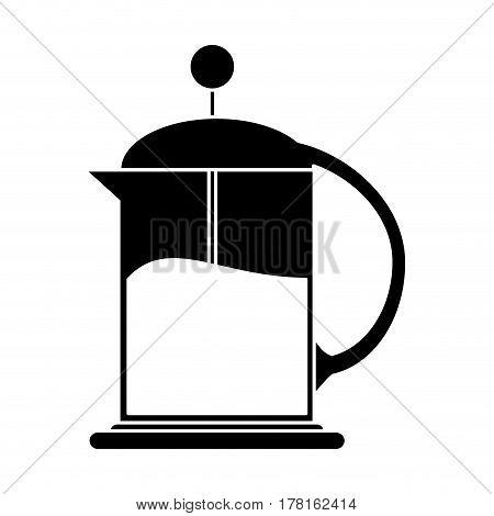 french press coffee maker pictogram vector illustration eps 10