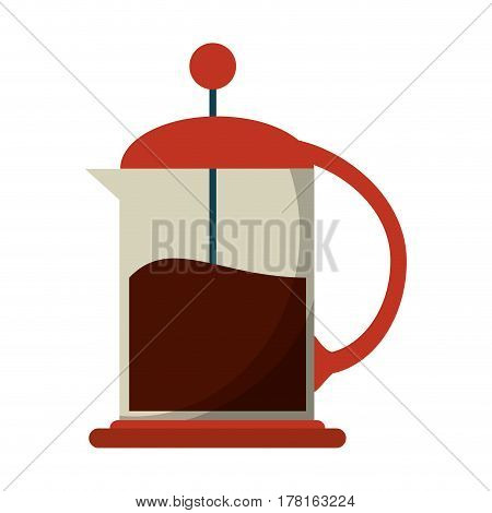 french press coffee maker vector illustration eps 10