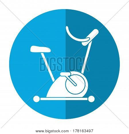 bicycle static exercise training icon vector illustration eps 10