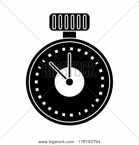 chronometer time sport tool pictogram vector illustration eps 10
