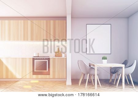 Kitchen Counters And A Table, Toned