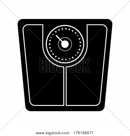 weight scale bathroom pictogram vector illustration eps 10