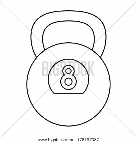 kettlebell weight gym fitness outline vector illustration eps 10