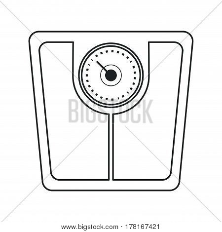 weight scale bathroom image outline vector illustration eps 10