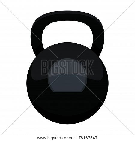 kettlebell weight gym fitness vector illustration eps 10