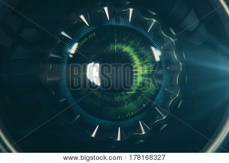 Round Robot's Eye