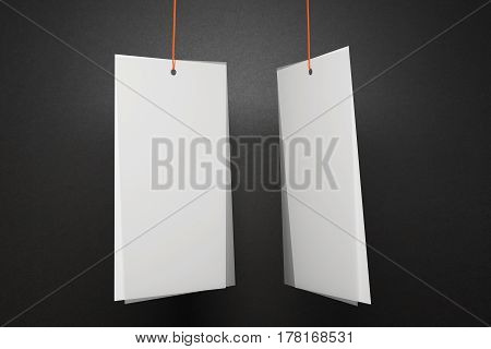 Two White Price Tags