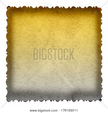 Conceptual old vintage brown golden paper background aged texture isolated on white