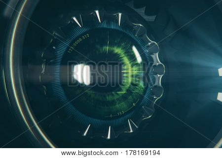 Round Robotic Eye