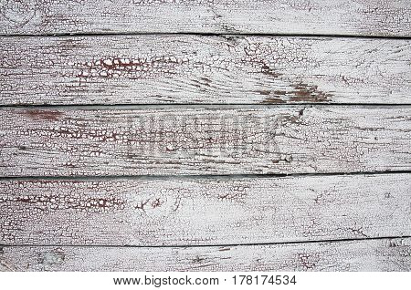 Texture Of Old White Paint On Black Boards