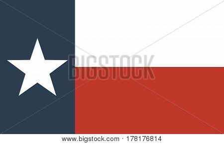 flag of the US state of Texas Official symbol of the state vector illustration
