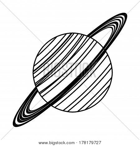 saturn planet astronomy image line vector illustration eps 10