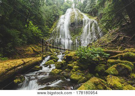 Beautiful Waterfall In Lush Forest