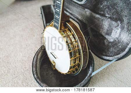 Beautiful Banjo In Custom Case