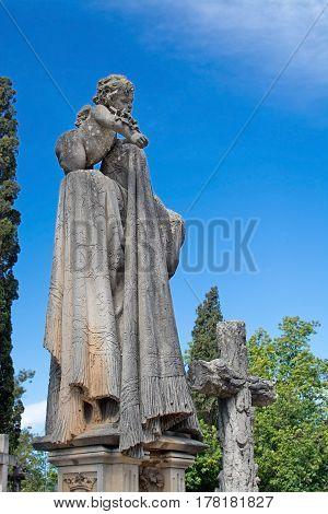 Palma Cemetery Angel Sculpture