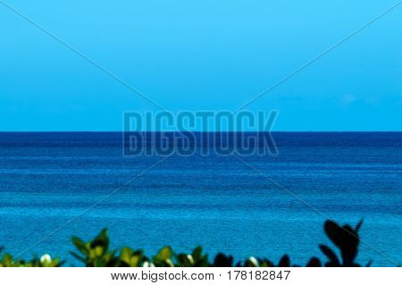 A beautiful view of the ocean during a bright sunny day. New Providence, Nassau, Bahamas.