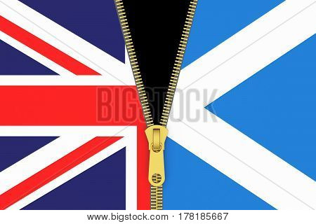 Great Britain and Scotland exit referendum concept