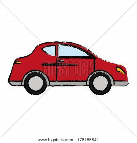 red car sedan transport vector illustration eps 10