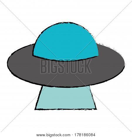 UFO invasion futuristic image vector illustration eps 10