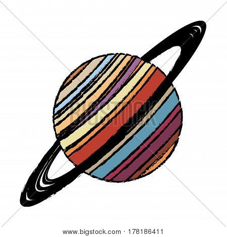 planet saturn astronomy universe icon vector illustration eps 10