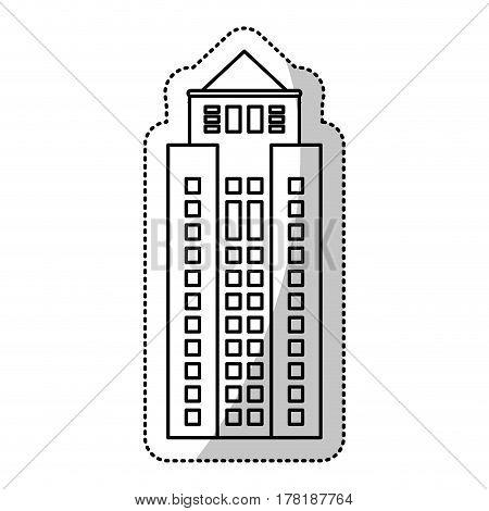 building facade windows cut line vector illustration eps 10