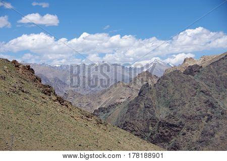 Beautiful Himalayan landscape near Kargil in Ladakh, India
