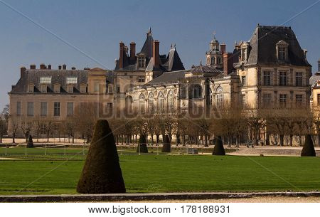 The Fontainebleau castle was the residence of French monarchs from Louis VII through Napoleon III. Today it is a UNESCO World Heritage Site.