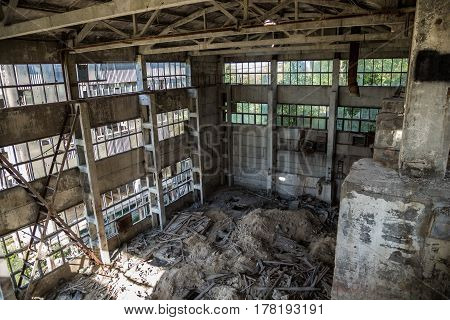 Abandoned crushing and screening Plant for Crushed Stone Production