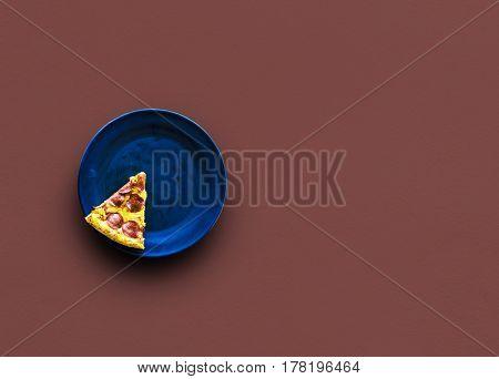 Slice of italian cuisine pizza