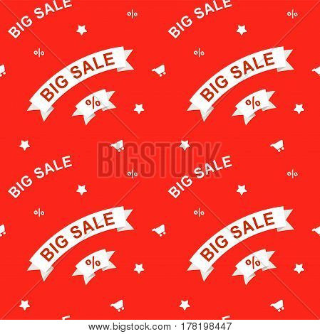 Big sale seamless red pattern for design banner, website or store