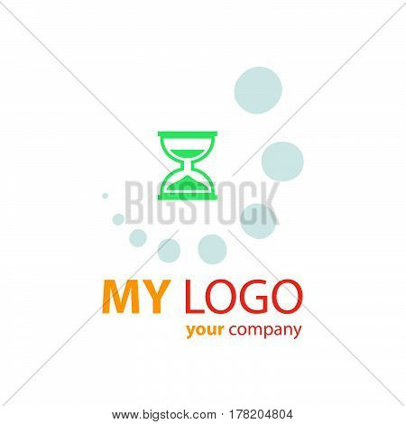 design hourglass logo vector design support eps10.