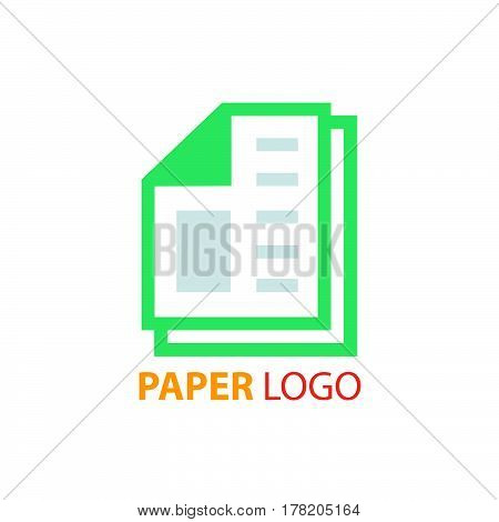 paper logo vector vector design support eps10.