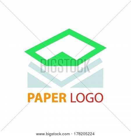 design paper logo vector design support eps10.